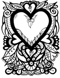 Heart Coloring Page.  Valentine's Day or just because you