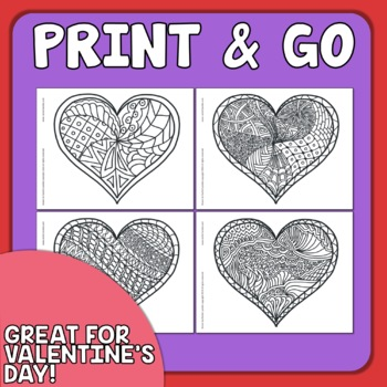Heart Coloring Pages for Valentine\'s Day! by Rachel Lynette | TpT