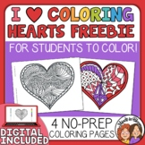 Heart Coloring Pages for Valentine's Day! Print or Color Online!