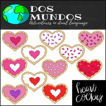 Heart Cookies-Clip Art