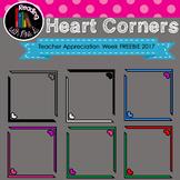 Heart Corner Frames for Teacher Appreciation 2017