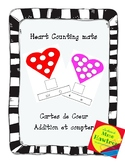 Heart Counting Mats - Cartes de coeur - Addition et compte