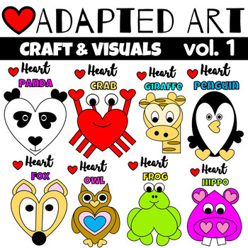 Animal Crafts {Adapted Art Bundle}