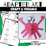Animal Craft {Adapted Art Crab}