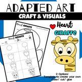 Animal Craft {Adapted Art Giraffe}