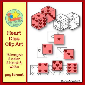 Dice Clip Art - Hearts