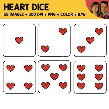 Heart Dice Clipart