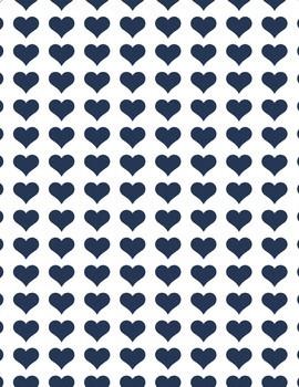 Heart Digital Paper - 6 total sheets