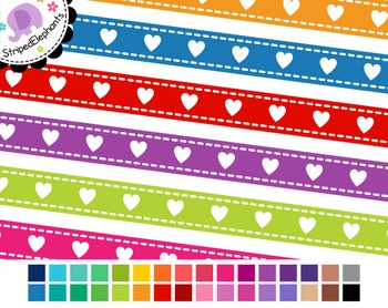 Heart Digital Ribbon Borders 1