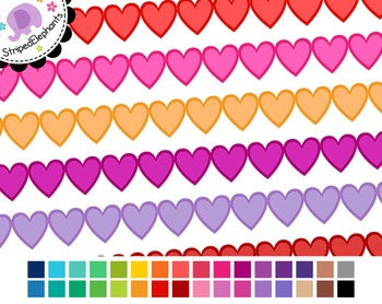 Heart Digital Ribbon Borders 2