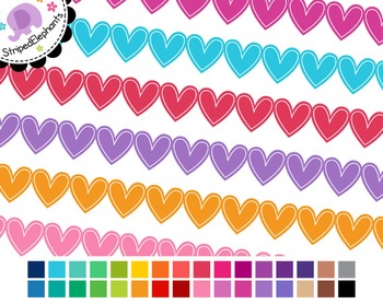 Heart Digital Ribbon Borders 3