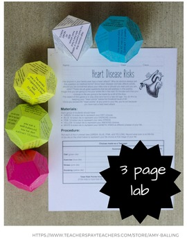 Heart Disease Science Activity / Lab
