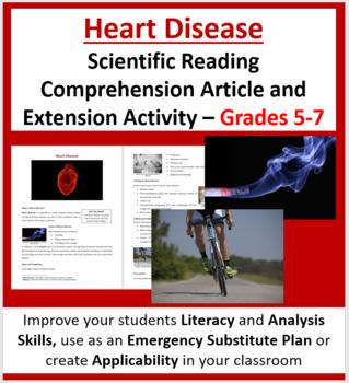 Heart Disease - Science Reading Article - Grades 5-7