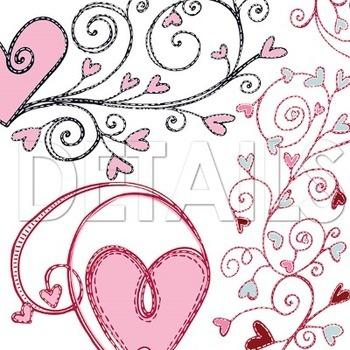 Heart Doodle Flourish, Valentine Clip Art Images, Heart Ornaments, Border