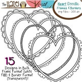 Heart Doodle Frames & Borders Set: Graphics for Teachers