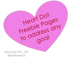 Heart Dot Page FREEBIE to Target Any Goal (No prep)