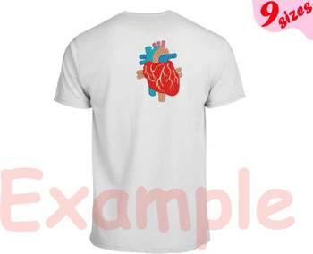 Heart Embroidery Design Machine science school hospital biology Medic Organ 166b