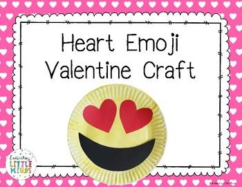 Heart Emoji Valentine Craft
