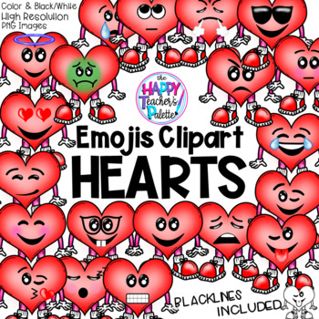 HTP Clip Art Heart Emojis {The Happy Teacher's Palette}