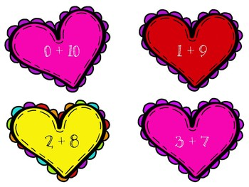 Heart Expression Sort: Addition & Subtraction