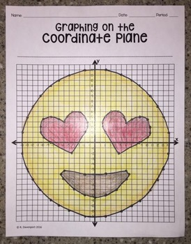 Heart Eyes EMOJI (Graphing on the Coordinate Plane/ Mystery Picture)