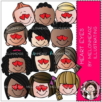Heart Eyes clip art - COMBO PACK - by Melonheadz
