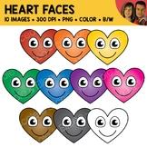 Heart Face Clipart