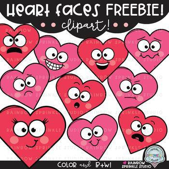 Heart Faces FREEBIE {heart clipart}