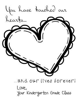 Heart Fingerprint Teacher Gift