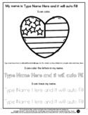 Heart Flag - Name Tracing & Coloring Editable Sheet - #60C