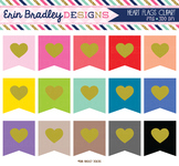 Heart Flags Clipart