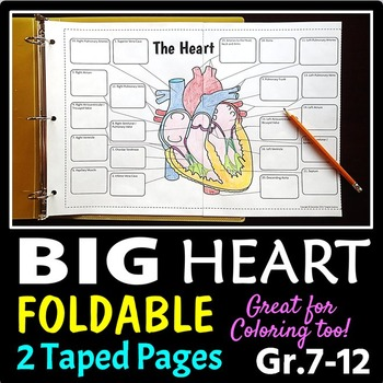 Heart Foldable - Big Foldable for Interactive Notebooks or