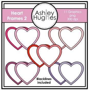 Heart Frames 2 Clipart {A Hughes Design}