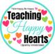 Heart Frames Clipart {white & chalkboard fill}