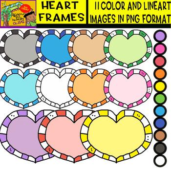 Heart Frames - Cliparts Set - 11 Items