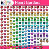 Heart Border Clip Art: Valentines Day Graphics {Glitter Meets Glue}