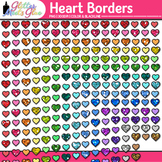 Heart Border Clip Art {Frames for Valentine's Day Activiti