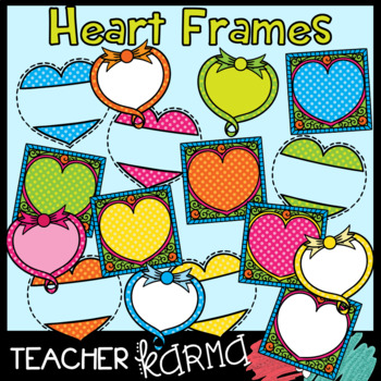 Heart Frames with Polka Dot Accents