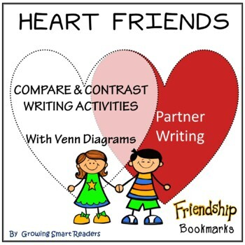 Friends! Compare & Contrast Heart Venn Diagrams and Bookmarks