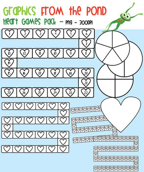 Heart Games Pack - Game Boards Spinners and Papers
