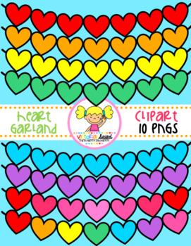 Heart Garland Clipart Freebie
