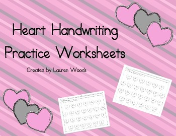 Heart Handwriting Practice Worksheets