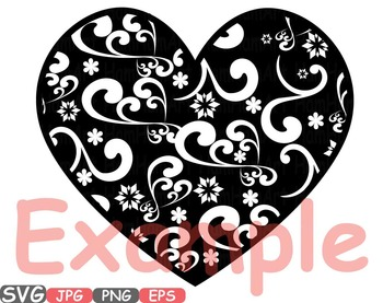 Heart Happy New Year SVG Winter holiday Clip art quotes word art 2017 -455S