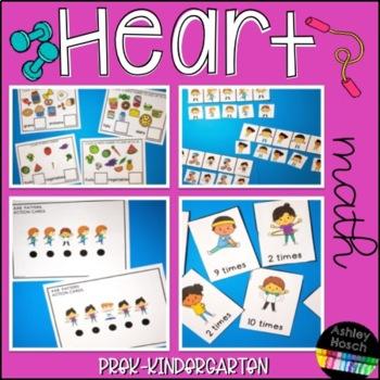 Heart Health Thematic Math Activities for Pre-K, Preschool, and Kindergarten