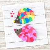 Heart Hedgehog Craft (Valentine's Day)