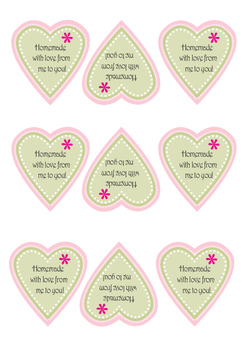 Heart Homemade with Love Printable - Mothers Day