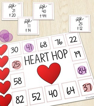Heart Hop- Addition  Without Regrouping Game
