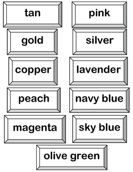 """""""Color Words, Sight Words!"""" -- Group and Folder Games with 20 Color Words"""