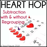 Heart Hop- Subtraction with and without Regrouping Game