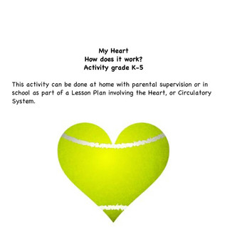 Heart-How does it work?/Circulation Lesson Activity / TakeHome mini research K-5